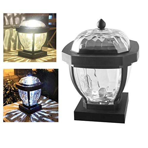 HLDJ 4x4 Solar-Pfostenkappen Lichter Rasen-Lampe LED Pillar-Lampe wasserdichtes Weiß Warm Beleuchtung im Freien Garten-Rasen-Licht-Solarlandschaftslampe (Color : Warm Lighting)