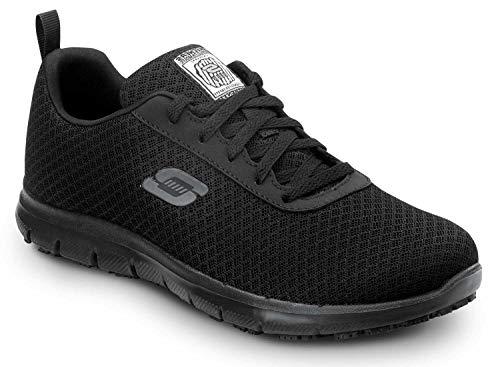 Skechers Ava Women's Black Soft Toe MaxTrax Slip Resistant Low Athletic (9.0 M)