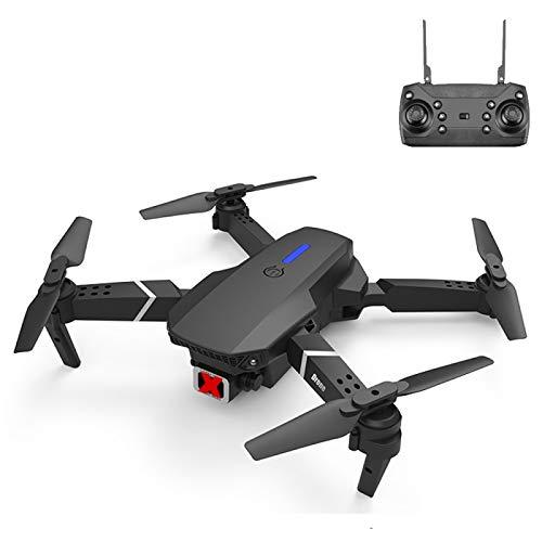 GANK TSX AYCD LS-E525 Pro Estándar sin cámara Evitación de obstáculos de Tres Lados Evitación Aérea de Alta definición Mini Plegable RC Quadcopter Drone Control Remoto Aviones (Color : Black)