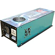 ATS 24V 32000W Peak 8000W LF Split Phase Pure Sine Wave Power Inverter DC 24V to AC 110V&220V 60Hz, with 120A BC/UPS/LCD Display
