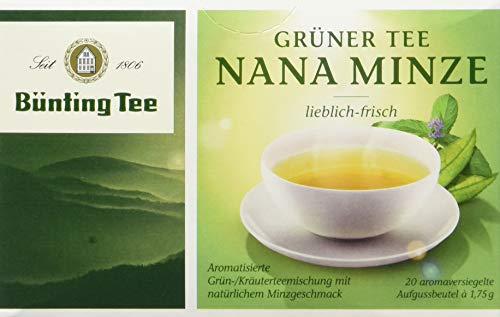 Bünting Tee Grüner Nana Minze 20 x 1.75 g Beutel (1 x 35 g)