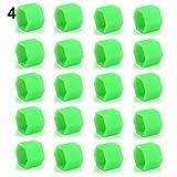 FYLYHWY 20 PCS/Set 19MM Silicona Coche Tuerca Tuerca Tornillo Tornillo Rims Exterior TORNOS Exterior (Color : 4 Green)