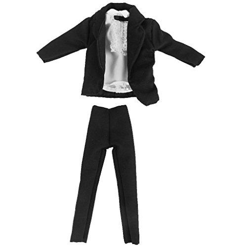 Xiton Prince Puppe Klage-Kleidung Satz von 3 Stück Mantel Hemd Hosen