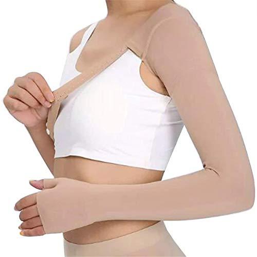 DYHQQ 30~40 mmHg Manga de compresión Post mastectomía Guante antiinflamatorio Soporte de Guante Anti Edema hinchazón linfedema,Right,S