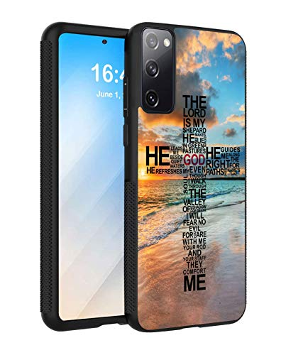 Galaxy S20 FE 5G Case (Not Fit Galaxy S20), Slim Anti-Scratch TPU Rubber Protective Case Cover for Samsung Galaxy S20 FE 5G - God Jesus Christian Cross