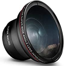 55MM 0.43x Altura Photo Professional HD Wide Angle Lens (w/Macro Portion) for Nikon D3400, D3500, D5500, D5600 and Sony Alpha Cameras