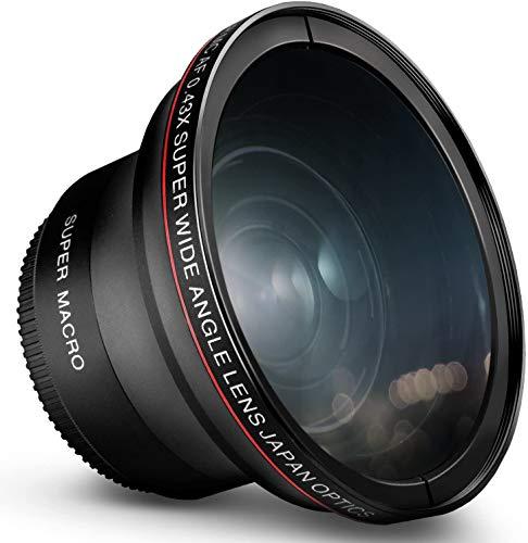 55MM 0.43x Altura Photo Professional HD Wide Angle Lens (w/Macro Portion)...