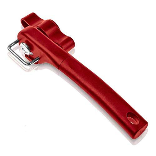 Apriscatole Apriscatole multifunzione Sicurezza taglio laterale Manuale Apriscatole in acciaio inox Coperchio taglio sicuro Bordo liscio (Rosso)