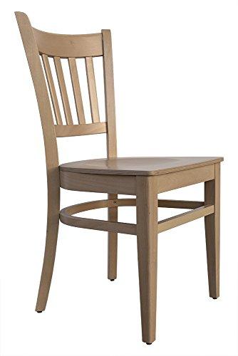 abritus Set 2 Stühle Stuhl Esszimmerstuhl Buche massiv Natur lackiert »T002«