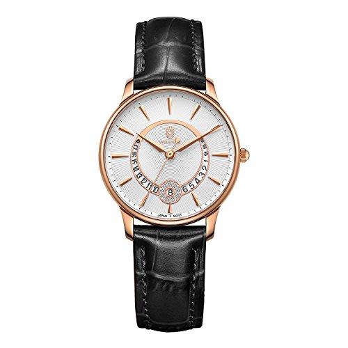 ROCOS Reloj de Cuarzo para Mujer Reloj Movimiento Cuarzo Japonés Relo