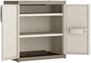 KETER | Armoire basse XL EXCELLENCE, Sable/Terre, Cabinets, 89x54x54x93 cm