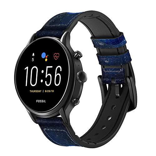 Innovedesire Blue Planet Correa de Reloj Inteligente de Cuero para Fossil Womens Gen 5E, Womens Gen 4, Hybrid Smartwatch HR Charter Tamaño (18mm)