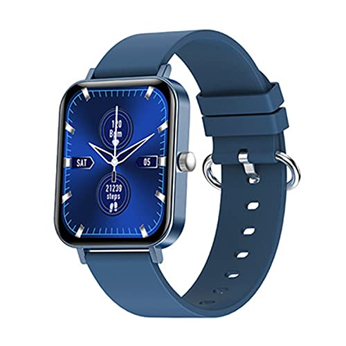 Reloj inteligente 1,69 pulgadas hombres y mujeres,Smart Watch Toque completo HD,Fitness Monitorear la frecuencia cardíaca,pulsera bluetooth compatible para teléfonos Andro(Size:1.69 inches,Color:azul)