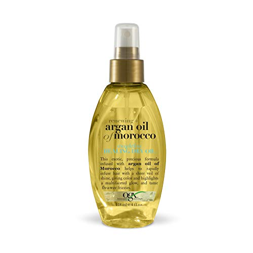 OGX Renewing + Argan Oil of Morocco Weightless Healing Dry Oil Spray, Lightweight Hair Oil Mist for Split Ends, Frizzy Hair and Flyaways, Paraben-Free, Sulfated-Surfactants Free, 4 Fl Oz