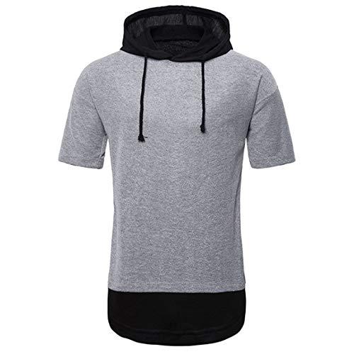 FUQUAN Zipped Hoodie für Herren Fitness Kapuzenpullover Männer Sweater Trainingsweste Sweatshirt Tank Herren Sommer mit Kapuze Sweatjacke T-Shirt Slim Fit Basic Baumwolle-Anteil Basic Männer