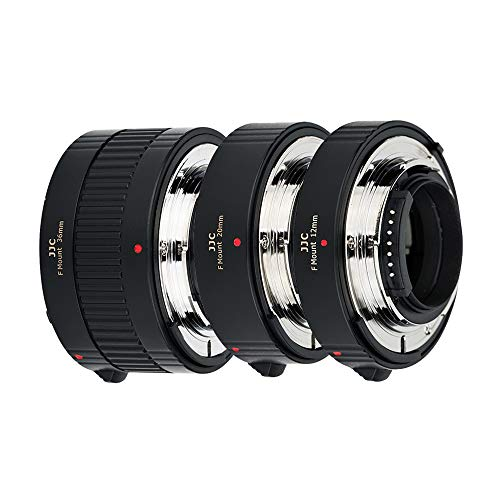 JJC Auto Focus Juego de tubos de extensión para Nikon F Mount D850 D780 D750 D3500 D3400 D5600 D7500 D7200 D7100 D7000 D5600 D5500 D5300 D5000 D810 D700 D600 D500 cámaras réflex digitales