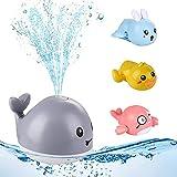 colmanda Baby Badespielzeug Wasserspielzeug, Whale Spray Induction Schwimmende Baden Spielzeug mit Licht, Uhrwerk Wasserspielzeug Kinder Spielzeug Set für Baby Kinder Kleinkinder Party Geschenk