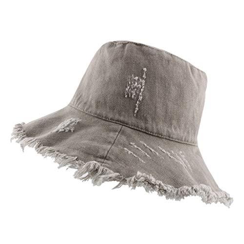 DOLDOA Hut Damen Sommer,Sonnenhut mit UV-Schutz UV-Strahlen Packbare und stilvolle Sommerhüte mit breiter Krempe (MehrfarbigC)