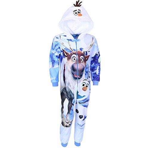 Disney Frozen Jungen Strampelanzug, Ganzkörper Schlafanzug, Onesie, Hausanzug - 3-4 Jahre 104 cm