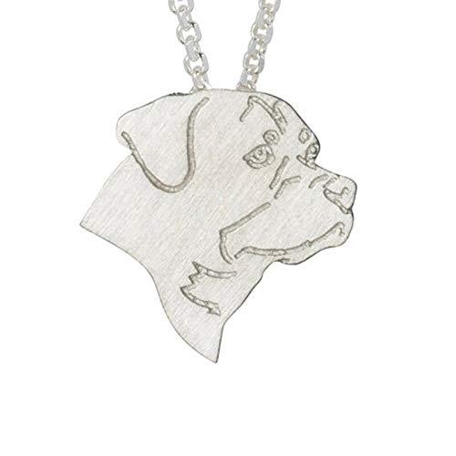 NA Halskette Classic Männer Frauen Charm Halskette Schmuck Mode Hundekette Halskette Haustier Anhänger Halskette Memorial Geschenk Silber