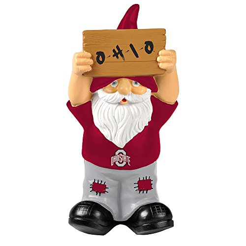 Elite Fan Shop Ohio State Buckeyes Garden Gnome - Scarlet