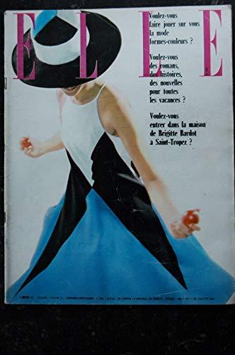 ELLE 866 27 juillet 1962 - Toile de losanges géants EVA - La maison de Brigitte Bardot - 96 pages FASHION VINTAGE