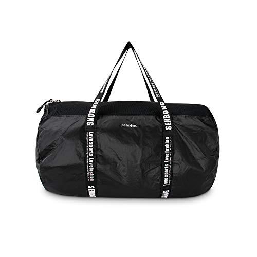 Ultraleicht Starke Tyvek Seesack, wasserdichte Sporttasche, Travel Tasche, Sporttasche, tragbare Weekender Tasche für Männer und Frauen, stilvollen Design für jeden Anlass- Schwarz