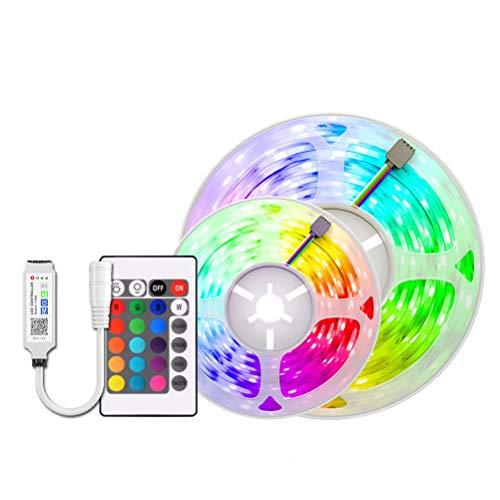 DZHT Luces LED RGB Con Luces Controlador De Aplicación De 5 M-30 M 5050 LED DC12V Cinta De Cinta Flexible Decoración De Vacaciones Luces De Luces Con Adaptador (Size : 5M)