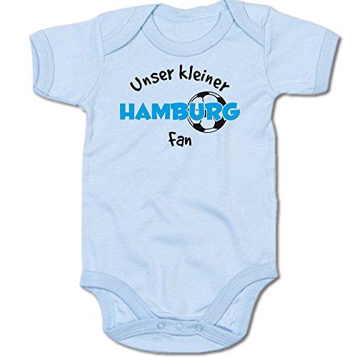 G-graphics Unser Kleiner Hamburg Fan Baby-Body Suite Strampler 250.0487 (3-6 Monate, blau)