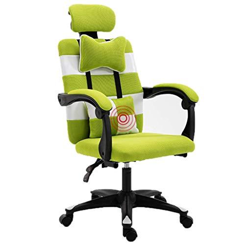 Sillones GSN Volver Silla de Oficina de la Hospitalidad de Nuevo Presidente de Dormir de Nuevo Presidente de la butaca Silla de Oficina Silla (Color : Green)