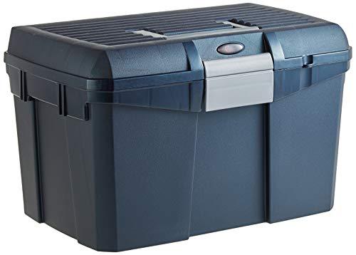 Kerbl 328268 Putzbox Siena mit herausnehmbaren Einsatz, midnightblau