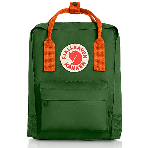 Fjallraven Unisex-Kid's K nken Mini, Leaf Green/Burnt Orange, One Size