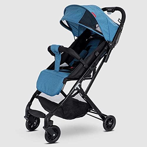 Cochecito de bebé, cochecito para dormir con convertibilidad 2 en 1, carro de cochecito plegable con arnés de 5 puntos, almacenamiento extra grande, construcción duradera, diseño compacto plegable