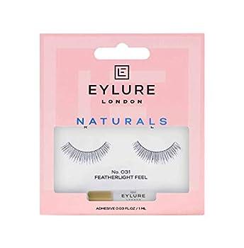 Eylure Fake Eyelashes Naturals No 031 Reusable Adhesive Included Tapered 1 Pair
