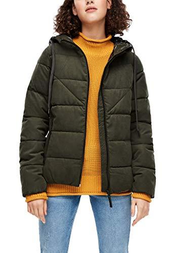Q/S designed by - s.Oliver Damen Wetterfeste Jacke mit glänzender Kapuze olive XL