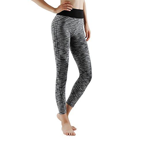 GoVIA 7/8 Leggings Donne Pantaloni di Corsa con Inserti in Rete Fitness Yoga Pantaloncini Sportivi 4103L L/XL