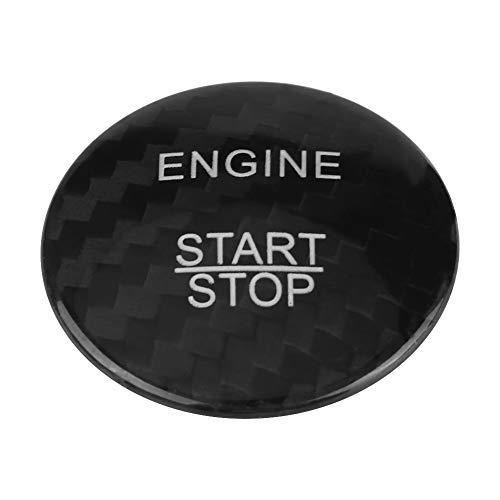 Bilinli Auto Start Button Cover Kohlefaser Motor Aufkleber für Mercedes Benz A B C GLC GLA CLA ML GL Klasse(schwarz)