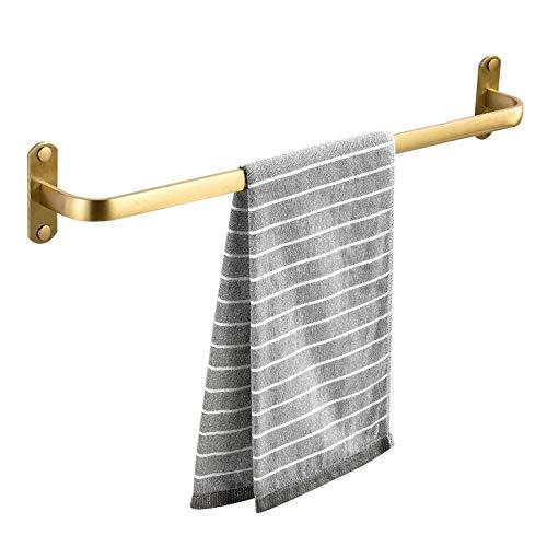 toallero de Pared baldas baño sin Taladro toalleros de Aluminio Adhesivo Antióxido para baño e Inodoro-Dorado_C