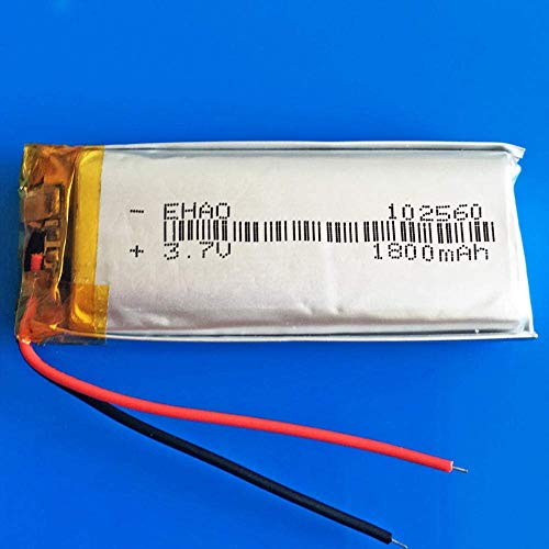 GzxLaY High-performance battery backup 3.7V 1800mAh lipo Rechargeable Battery 102560 Lithium Polymer lipo Cells for Laptop Tablet PC GPS Navigator DVD e-Book Camera