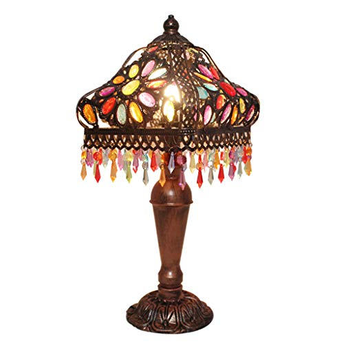 GXINGDONG Tafellamp, tuin retro kleur, industriële wind slaapkamer lamp huis lamp café bar decoratie