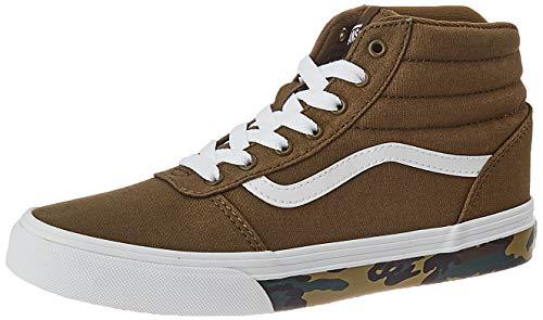 Vans Ward Hi Canvas Sneaker, Camo Sidewall Military Olive White, 38 EU