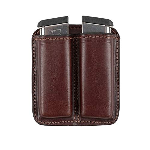 Relentless Tactical Leather Double Magazine Holder   Made in USA   Sizes to fit virtually Any 9mm.40 or .45 Caliber Pistol Mag   Single or Double Stack   IWB or OWB Mag Pouch