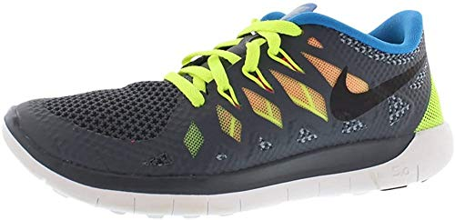 Nike Free 5.0, Scarpe da Ginnastica Unisex-Bambini, Blu (Lyn Blue/Mtllc Slvr-Bl Lgn-Blk), 35.5 EU