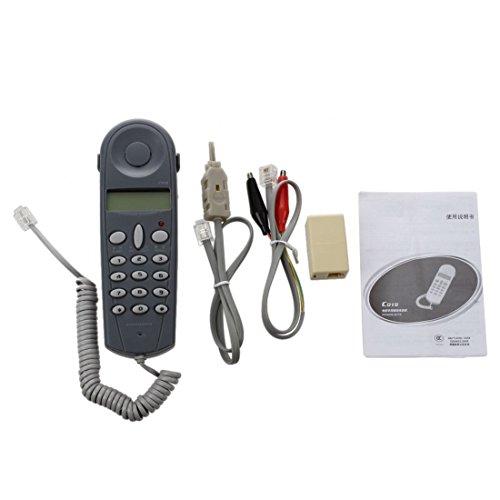SODIAL(R) Conjunto de cable herramienta de prueba probador de atraque de instalador de lineas de telefono