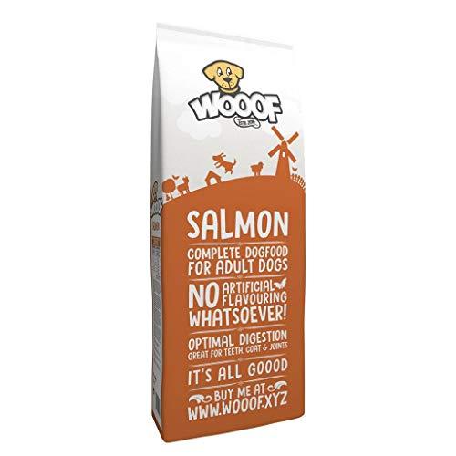 WOOOF Lachs 14kg kaltgepresstes Hundefutter mit Fisch | Purinarmes Trockenfutter, natürlichen Zutaten & Ohne Weizengluten