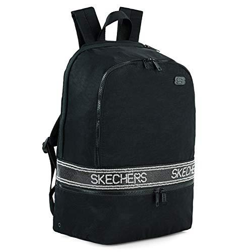 SKECHERS - Lässiger Rucksack Laptop-Fach innen. Perfekt für den täglichen Gebrauch. Praktisch, komfortabel und vielseitig S1000, Color Schwarz