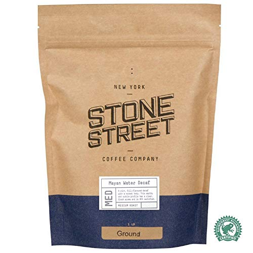 MAYAN DECAF SWISS WATER PROCESS Ground Coffee | 1 LB Bag | Chemical Free Decaffeination | RFA Certified | MEDIUM ROAST