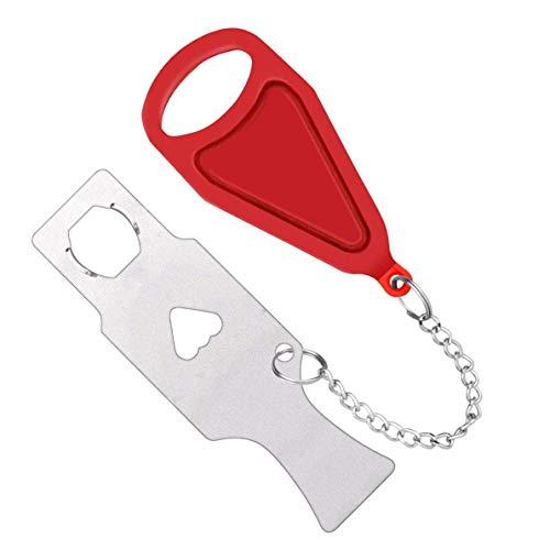 Xhwykzz tragbare Türschlösser, AirBNB-Schlösser und Schulriegelschlösser, Sicherheitsschlösser werden für die Sicherheit von Reisen, im Hotel verwendet. Rot (1 Stück)