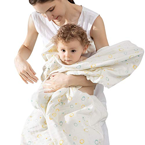 AOIWE Toalla de baño de algodón súper absorbente para bebé, toalla multiusos para niñas y niños, toallas de secado rápido de calidad (color: estrellas, tamaño: 95 x 95 cm)