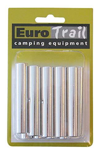 Eurotrail Lot de 10 baguettes à distance en aluminium Argenté 11 mm